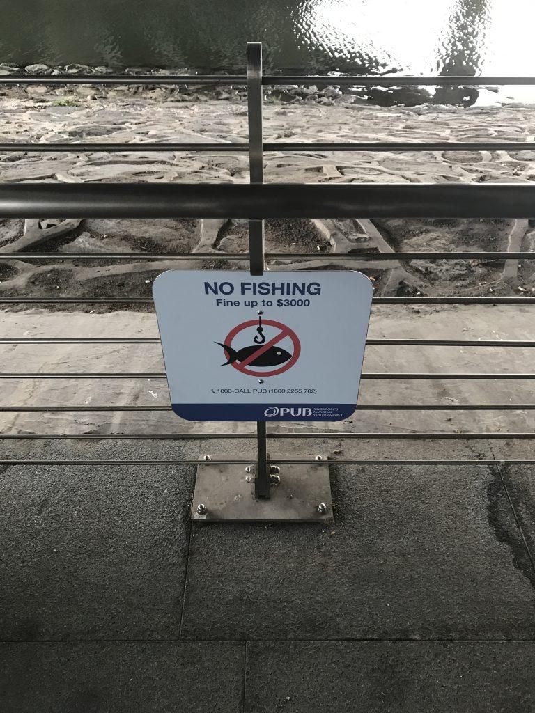 禁止エリアでの魚釣りは3000ドル以下の罰金