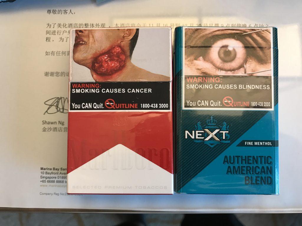 シンガポールのタバコのパッケージデザインが怖すぎる