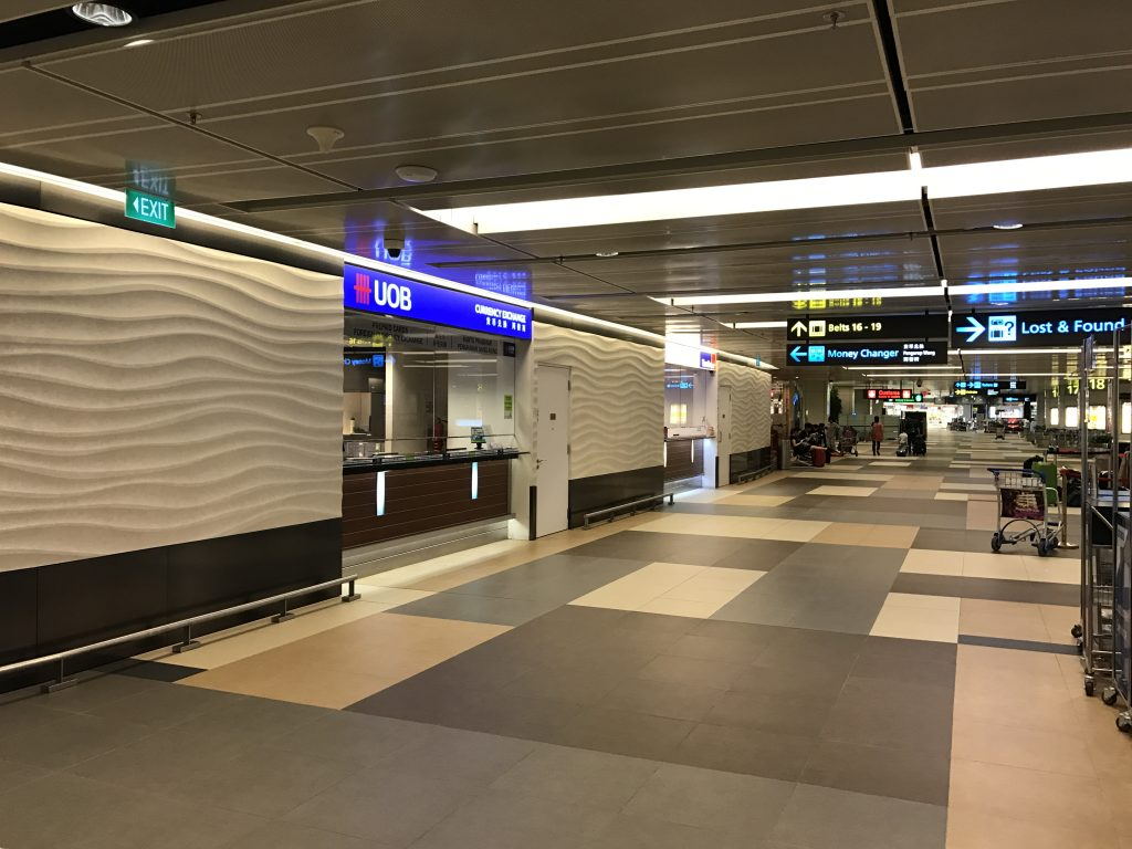 チャンギ国際空港で両替がおススメ