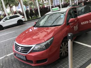 チャンギ国際空港からホテルまではタクシーでの移動がおススメ