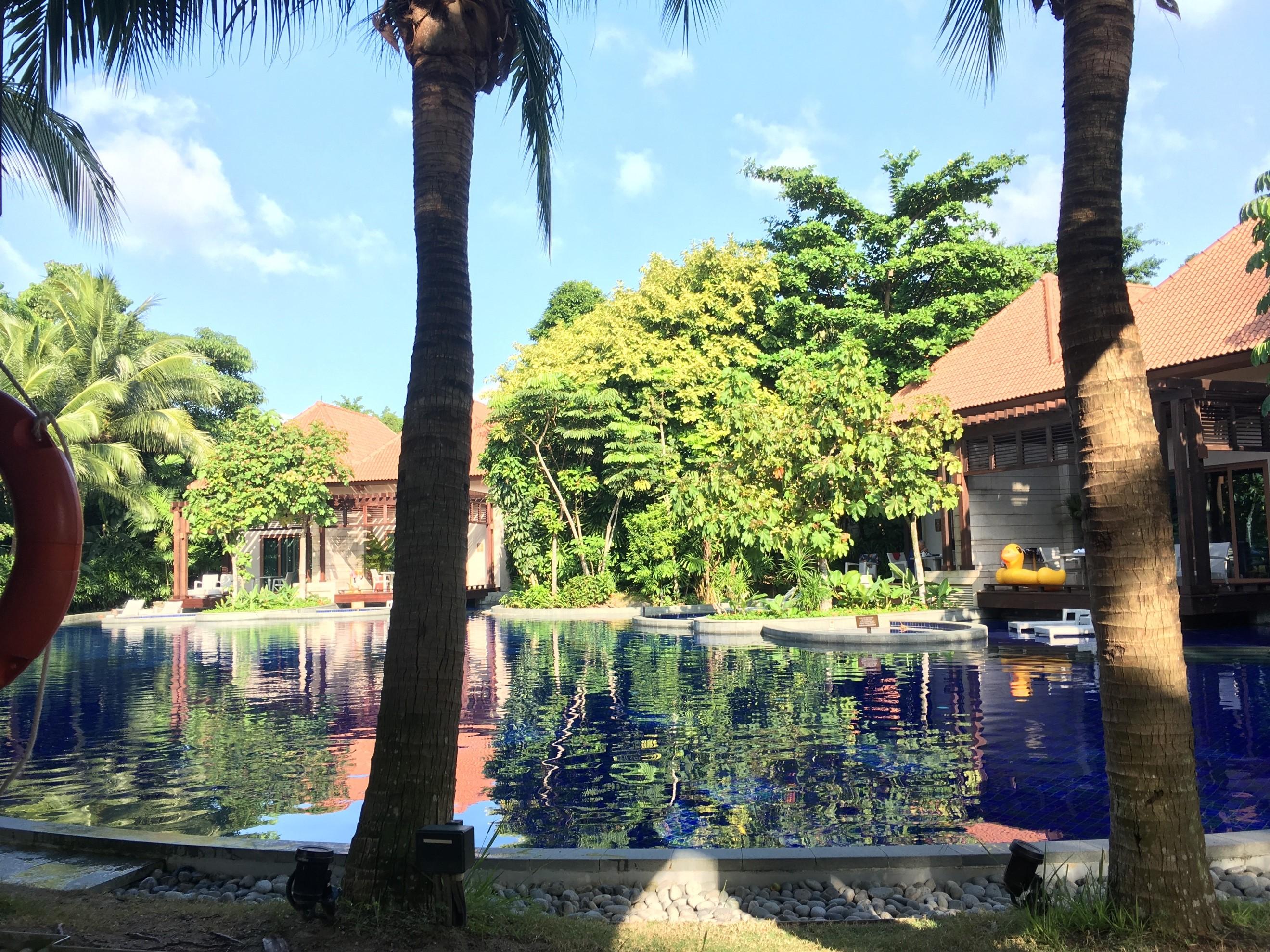 ホテル内のプール