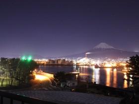 田子の浦からの夜景with富士山&田子の浦港