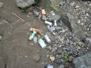 自然にゴミを捨ててはいけない